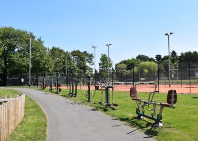 Outdoor fitness equipment at the Recreation Ground